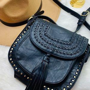 Antik Kraft cross body shoulder bag black